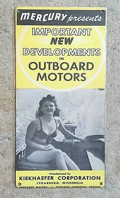Mercury Kiekhaefer Marine Cedarburg Wisconsin Outboard Motor Fishing Sign Decor