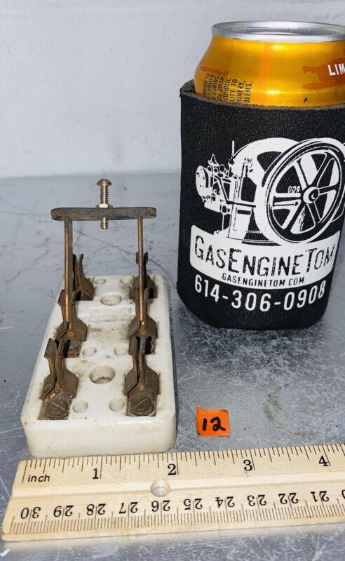 LEVITON 25A 125V Porcelain Knife Switch Vintage Steampunk Frankenstein Hit Miss
