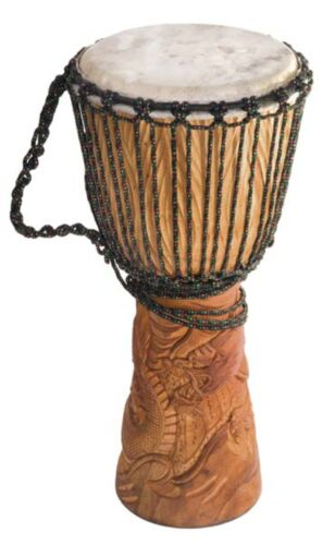 "Djembe Standard Dragon, 24"" tall, 10-11"" head"