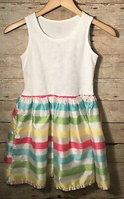 Girls Dress Size 10/12 The Childrens Place Sleeveless Summer White