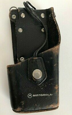 Vintage Leather Motorola Radio Holder Radio Holster
