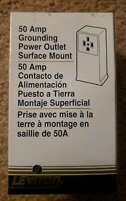 NEW LEVITON 061-55050 Welder Outlet 50 AMP GROUNDING SURFACE MOUNT FREE SHIP USA