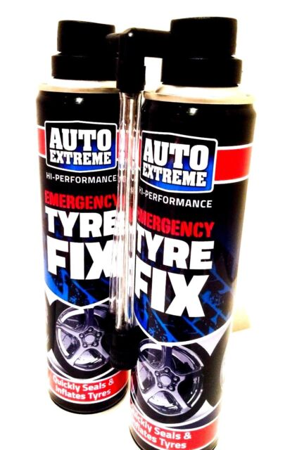 AUTO EXTREME  TYRE WELD EMERGENCY PUNCTURE REPAIR FOR LARGE CARS 2 x 300ML