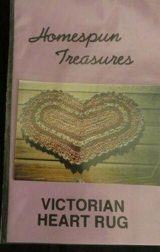 NIP Victorian Heart Rug Crochet Pattern by Homespun Treasures - 1994