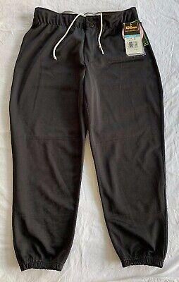 Womens Wilson Low Rise Softball Pants Black Size L Drawstring Waist NWT WTC7609