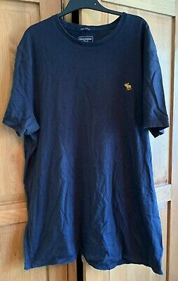 MENS SHORT SLEEVE T-SHIRT - ABERCROMBIE & FITCH - NAVY - XL
