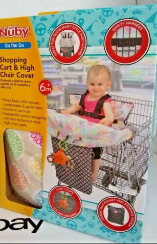 NEW NUBY ON THE GO AND HIGH CHAIR COVER 6 MONTHS+