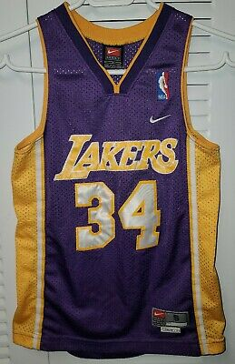 Shaquille O'Neal / Shaq - NBA Los Angeles Lakers Nike Swingman jersey -  yth S