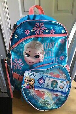 DISNEY FROZEN SCHOOL BACKPACK ELSA PRINT Includes Lunch Box & Water Bottle NEW (Disney Frozen Lunch Box)