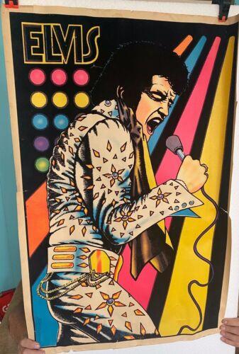 Vintage Elvis Presley Velvet Poster