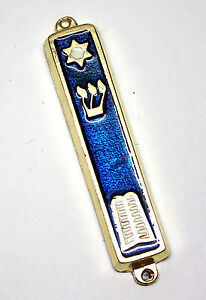 10 Commandment Mezuzah 24k Gold Plated Jewish Mezuza Judaica Gift Made in Israel