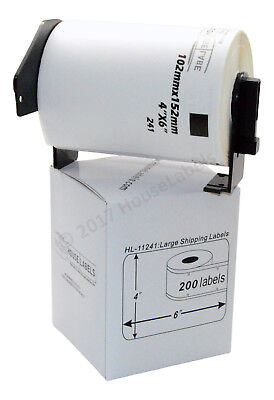 4 Rolls Of Dk-1241 Brother-compatible Shipping Labels With 1 Reusable Cartridge