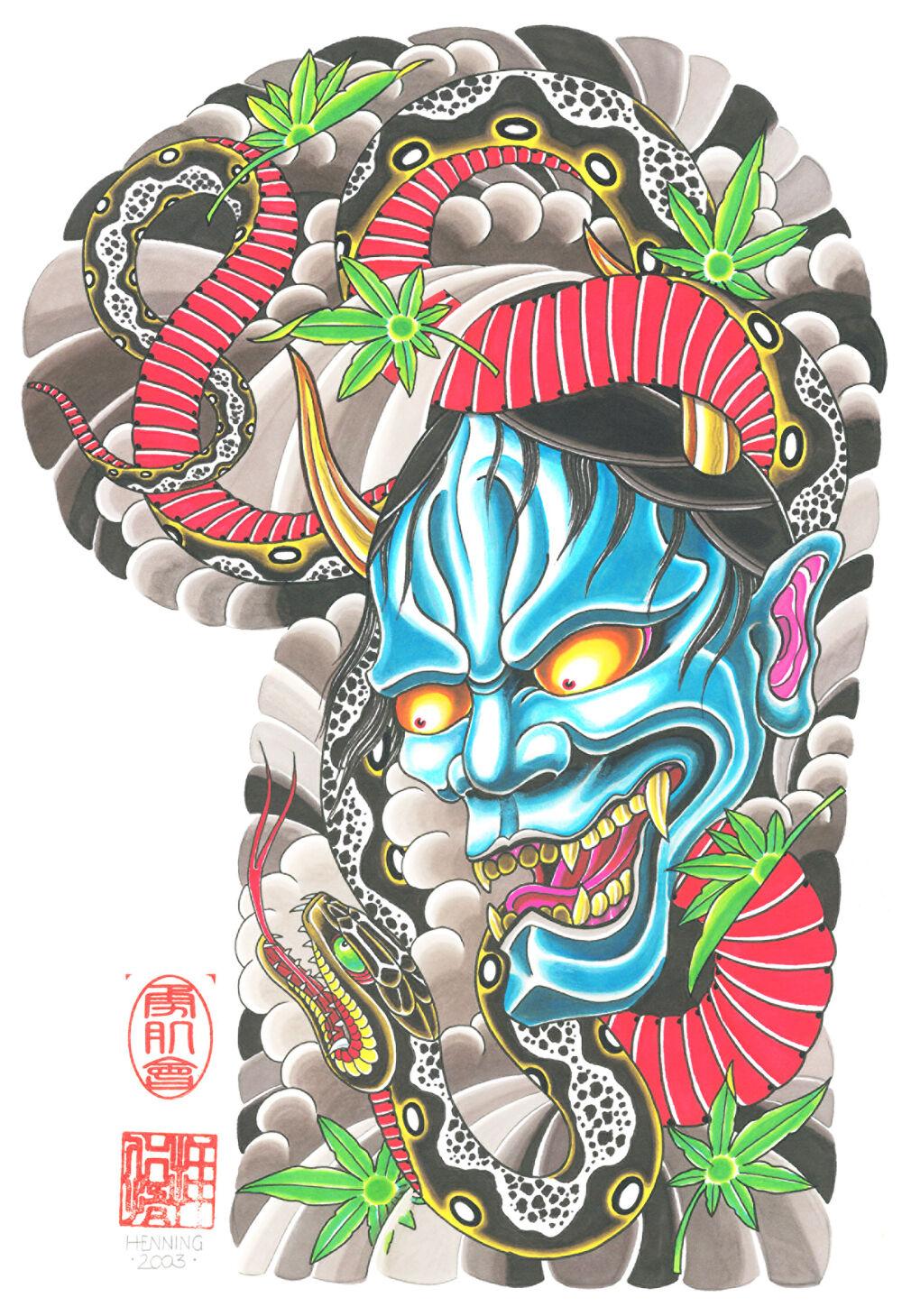 Japanese tattoo flash on dvd cd 1 100 sheets body sleeve for Japanese tattoo flash
