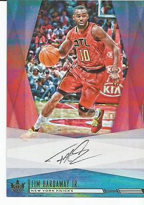 TIM HARDAWAY JR Auto 2017/18 Court Kings Knicks Hawks Box Topper 5X7