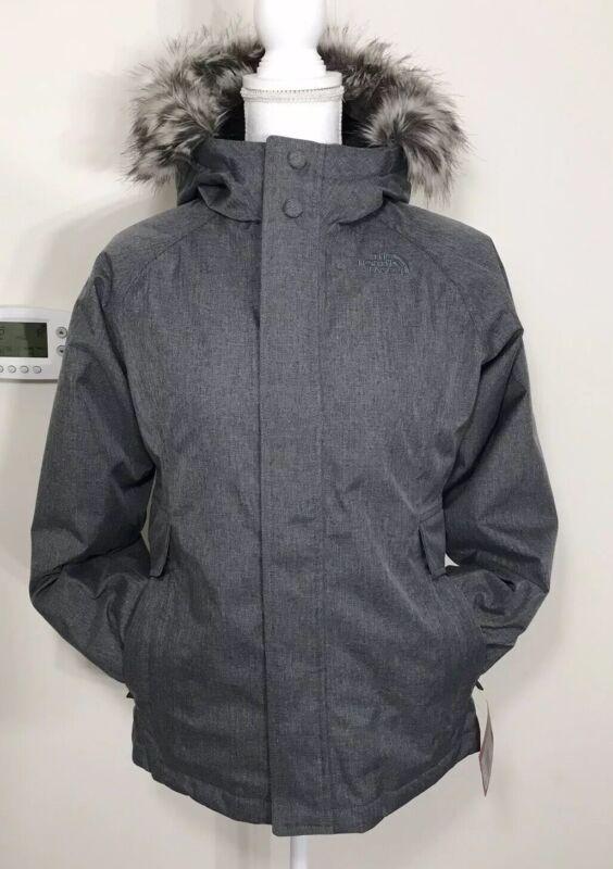 The North Face Girls Ella Lou Urban Down Jacket Coat TNF Grey Heather S M L XL