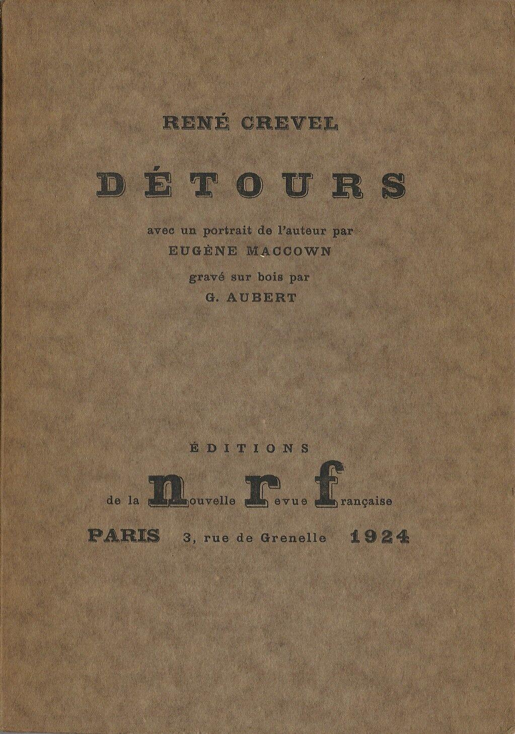 René Crevel - Détours