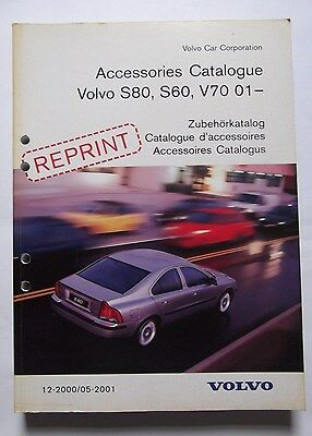 Genuine Volvo S60,S80 & V70 Accessories Catalogue Book