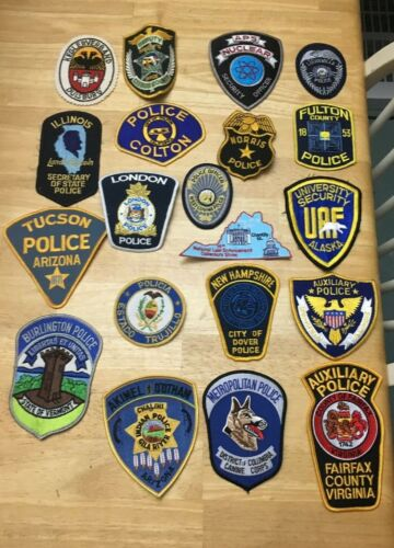 NICE LOT OF 20 LAW ENFORCEMENT PATCHES  PD-08
