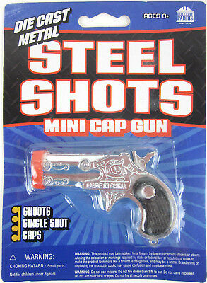 Cap Gun Pistol (Toy DERRINGER Diecast Metal Mini Pocket Pistol Cap)