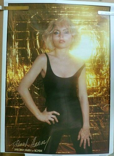 RARE DEBORAH HARRY BLONDIE 1979 VINTAGE ORIGINAL MUSIC STORE PIN UP POSTER