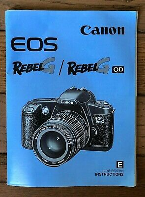 CANON EOS Rebel G/GQD Camera Owners Instruction Manual Guide Vintage covid 19 (Canon Camera Owners Manual coronavirus)