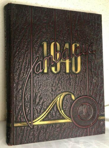 1940 TULANE UNIVERSITY Yearbook JAMBALAYA New Orleans Louisiana WWII WW2 Annual