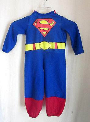Rubies Superman Infant Toddler Halloween Costume Size 2-4 years - Toddler Superman Halloween Costume
