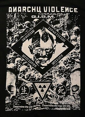 G I S M  Gism  Anarchy Violence Short Sleeve Tee Shirt
