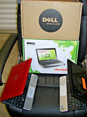 Dell Inspiron Mini 1011 10.1in Black Red Nickelodeon  Notebook Laptop $99 up