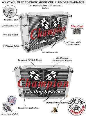 3 Row Best Cooling Champion Radiator W/ 16