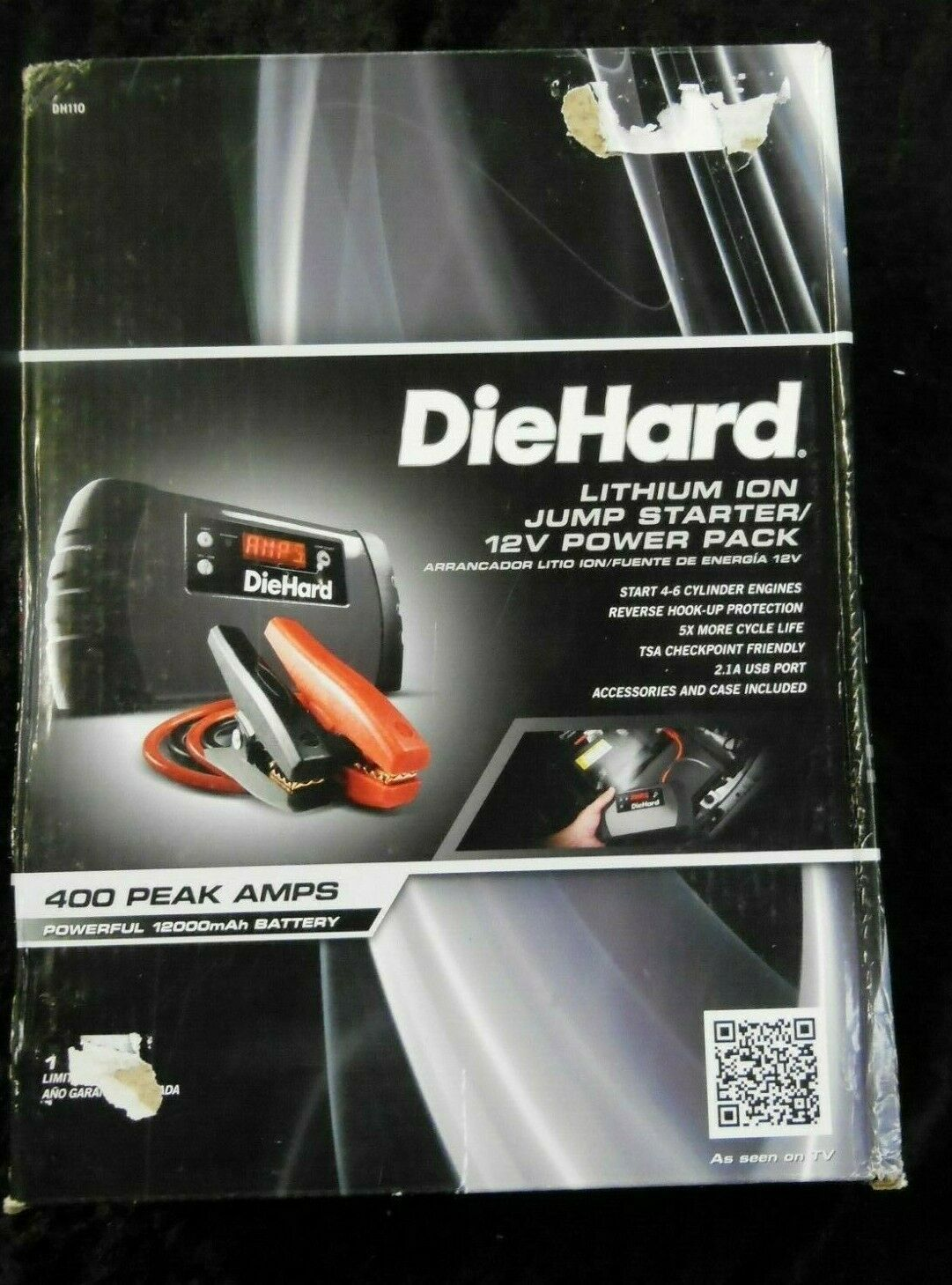 DieHard 400AMP Lith-Ion Jump Starter for car battery /12V Po