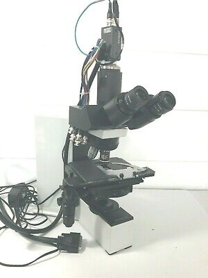Olympus Bx40 Pathology Lab Microscope Hitachi Camera 3 Objectives No Cord As-is