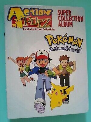 Pokemon Action Flipz Premiere Ed. Complete Set of 40 + Album Artbox 1999 F.R.S!