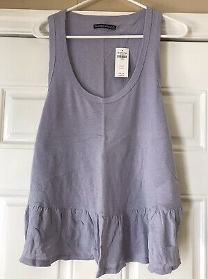 Abercrombie & Fitch  PURPLE  PEPLUM TANK T SHIRT  NWT  X-LARGE