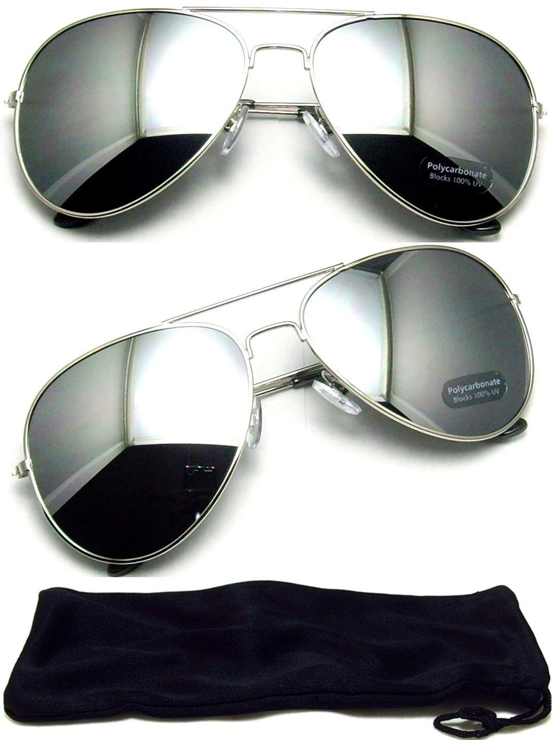 aviator sunglasses vintage mirror lens new men
