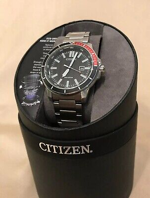 NEW Citizen Eco-Drive 45mm Mens stainless-steel Sports Power Reserve casual
