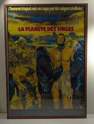 "LA PLANETE DES SINGES (Planet of the Apes) ~French Mascii Poster/Frame 40"" x 27"""