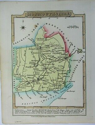 Antique map of Monmouthshire by William Lewis 1819