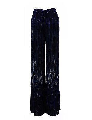 Giorgio Armani - Couture Runway - Dark Blue Velvet Palazzo Pants Size 4 Designer