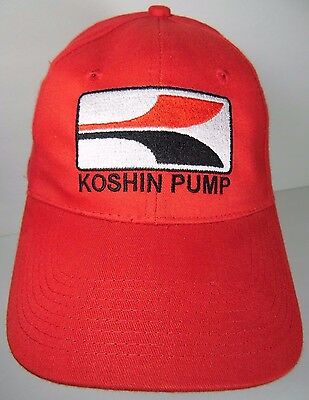 KOSHIN PUMP WATER OIL PUMPS CONSTRUCTION MARINE GARDEN RED ADVERTISING HAT CAP Koshin Water Pump