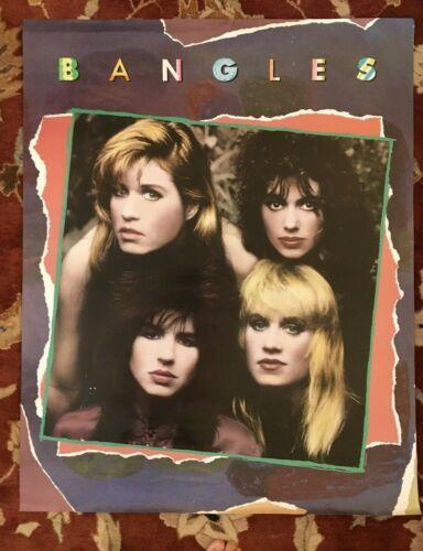 THE BANGLES On Columbia Records  rare HUGE original promotional poster from 1986