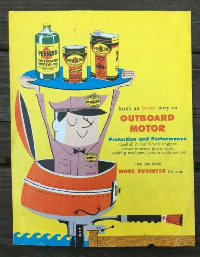 Vintage PENZOIL OUTBOARD MOTOR OIL Advertising Catalog Brochure 1958