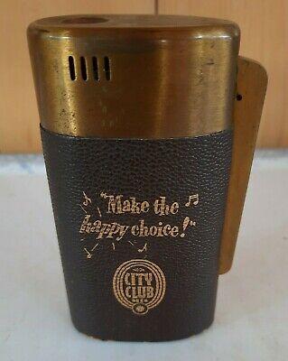 Vintage City Club Beer Cigarette Lighter...Make the Happy Choice See Description