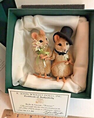 FOREVER BRIDE & GROOM Mouse Couple by R. John Wright