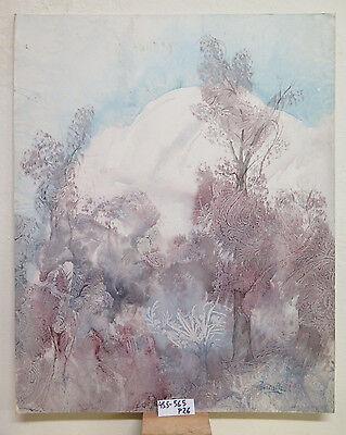 Zeitgenössische Kunst Landschaft (Moderne Kunst Zeitgenössische Unterzeichnet Pancaldi Landschaft Winter Schnee)