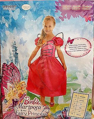 Barbie Mariposa & Fairy Princess Kostüm Kleid Fasching Karneval 3-5 Jahre - Mariposa Barbie Kostüm