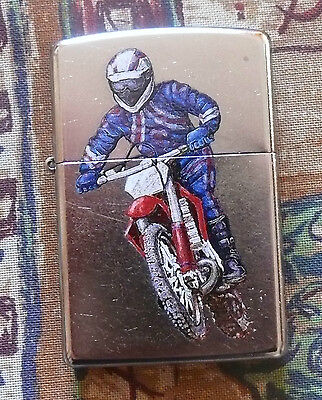 DISCONTINUED SPORTS RACING BIKE ZIPPO LIGHTER FREE FLINTS