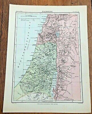 circa 1880s colour map of palestine !  ( adam & charles black )