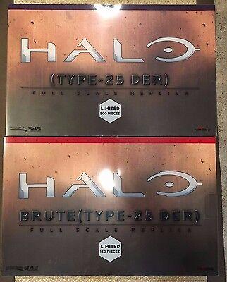 NIB Project TRIFORCE 1:1 Scale Replica HALO 2 Brute and Elite Plasma Rifle SET