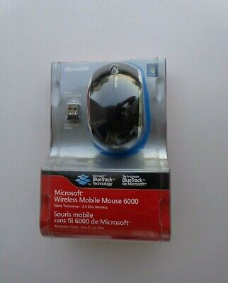 Microsoft Wireless Mobile Mouse 6000-Black For Windows & Mac(New Factory Sealed) ()